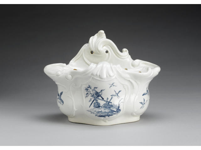 An important Worcester bough pot circa 1757-58