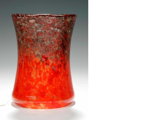 A small Monart vase Shape EB