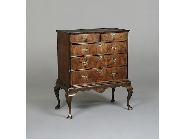 An 18th century walnut chest on stand