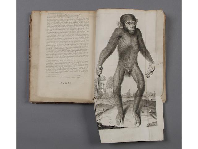 TYSON (EDWARD) Orang-Outang, sive Homo Sylvestris, or the Anatomy of a Pygmie ..., 2 parts in one vol.