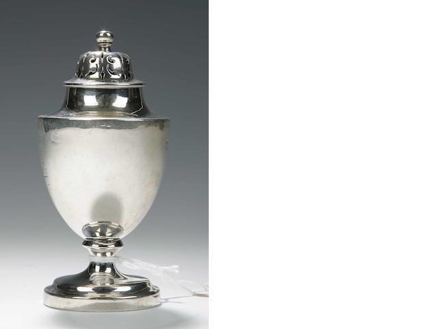 A George III Pepper Caster By William Cunningham, Edinburgh 1831,