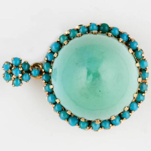 A turquoise bracelet