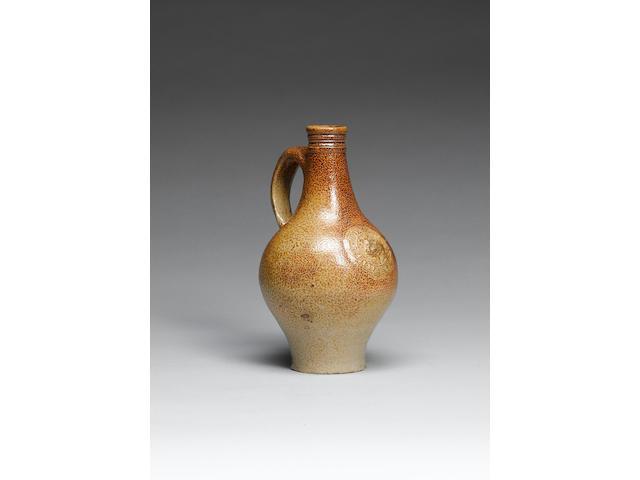 A rare John Dwight, Fulham, stoneware tavern bottle circa 1675