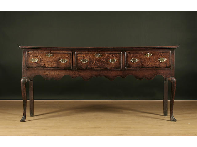 A mid-18th Century oak low dresser
