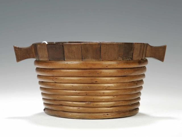 A 19th century wooden staved luggie