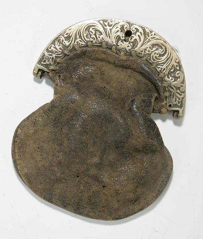 An early brass sporan cantle