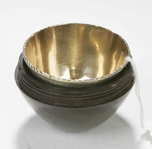 A 19th century dram cup