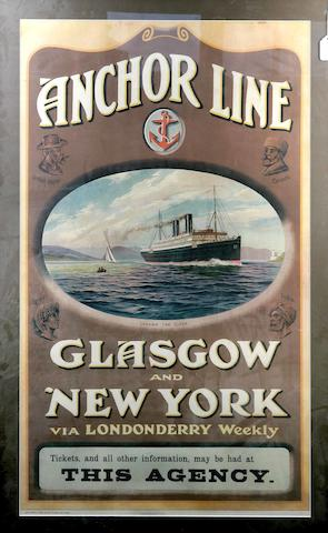 An Anchor Line advertising poster