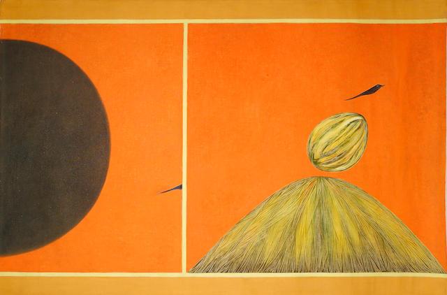Jagdish Swaminathan (India, 1928-1993) Mountain and Bird