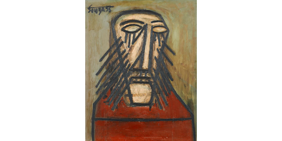 Francis Newton Souza (India, 1924-2002) Head of Christ