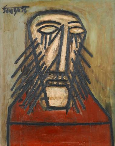 Francis Newton Souza (India, 1924-2002) Head of Christ