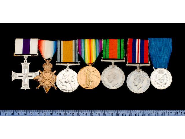 A Great War M.C. group of seven to Major T.B.C.Piggott, Lancashire Fusiliers,