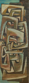Sadequain (Pakistan, 1937-87) Abstract Composition