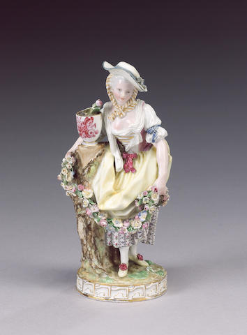 A Meissen figure of a lady, circa 1870