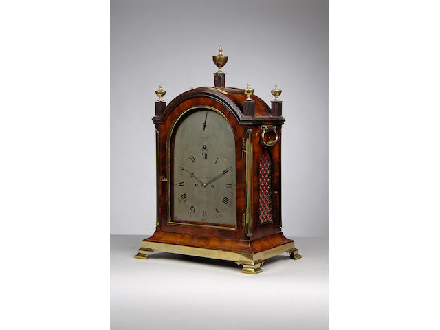 A good late 18th century mahogany pad top bracket clock Allam & Caithness, London