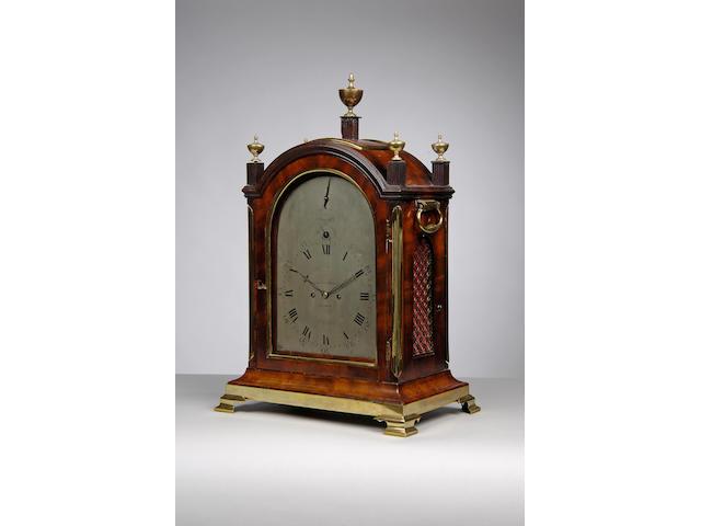A good late 18th century mahogany pad top bracket clock Allam & Caithness, London