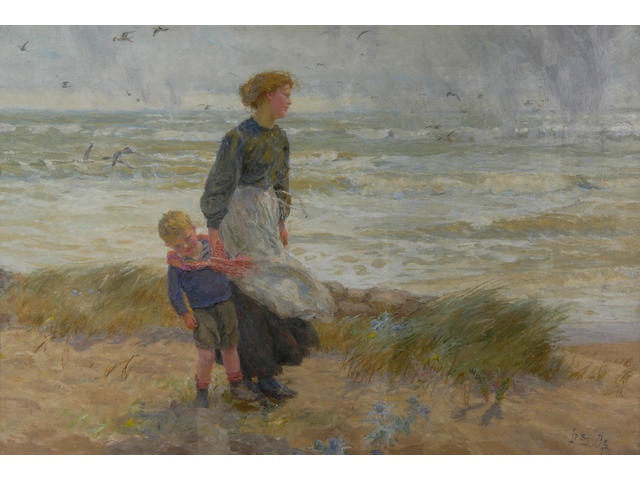 Lionel Percy Smythe (1839-1918) On the seashore