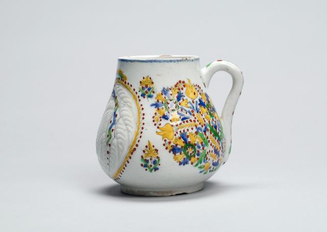 A Kutahya pottery Mug Turkey, 18th Century
