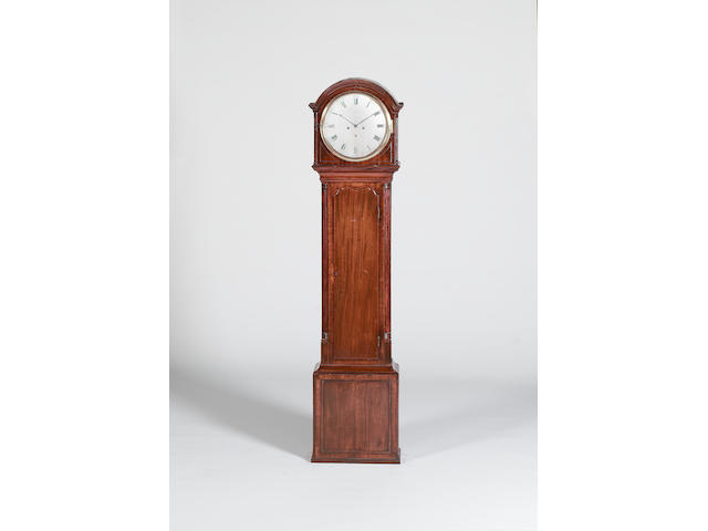 A George III mahogany long case clock Robert Hinmers, Edinburgh