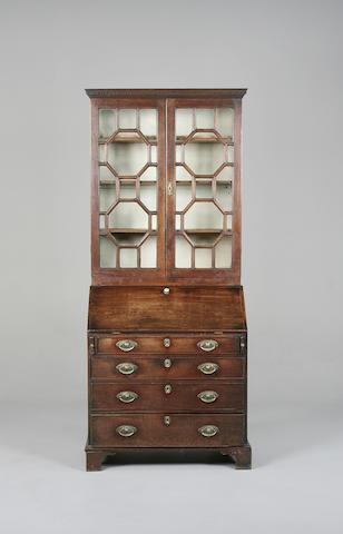 A George III bureau bookcase