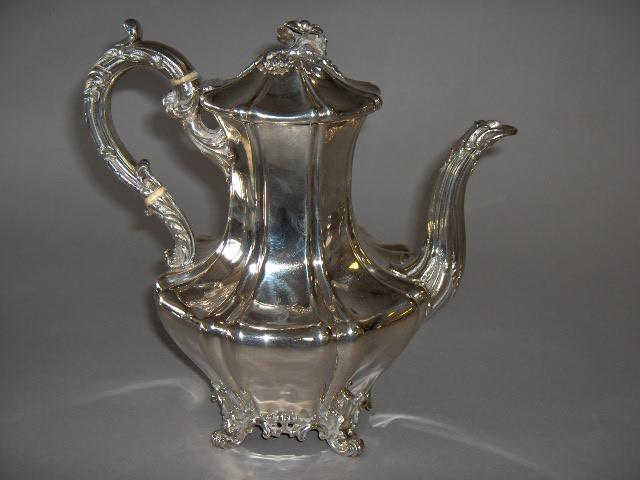 An early Victorian coffee pot by Edward, Edward Jun, John & William Barnard, London 1838,
