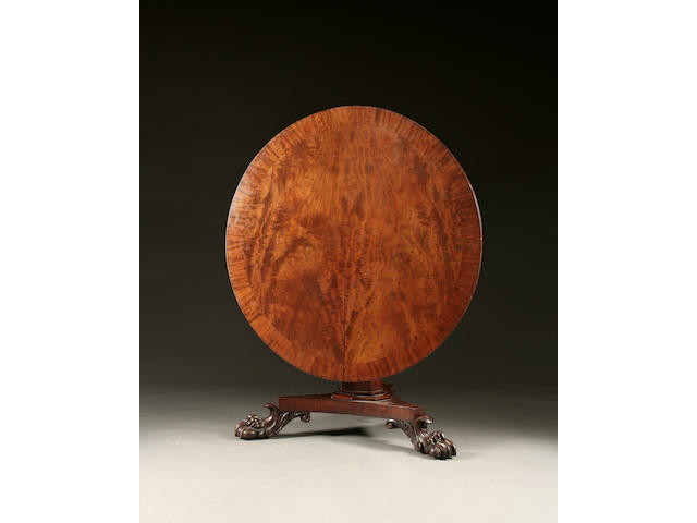 A William IV mahogany tilt-top centre or breakfast table