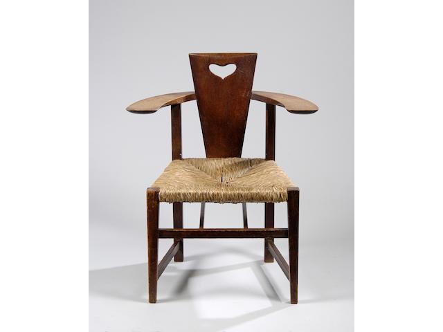 An oak Abingdon chair
