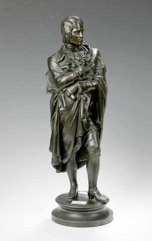 A 19th century patinated spelter figure of Robert Burns
