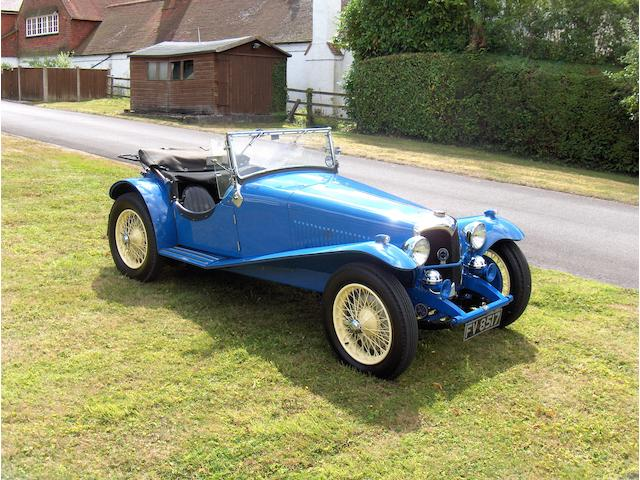 1937 Riley 1½-Litre 12/4 Kestrel/Sprite Special Sports  Chassis no. SS27K5855 Engine no. SSK5855