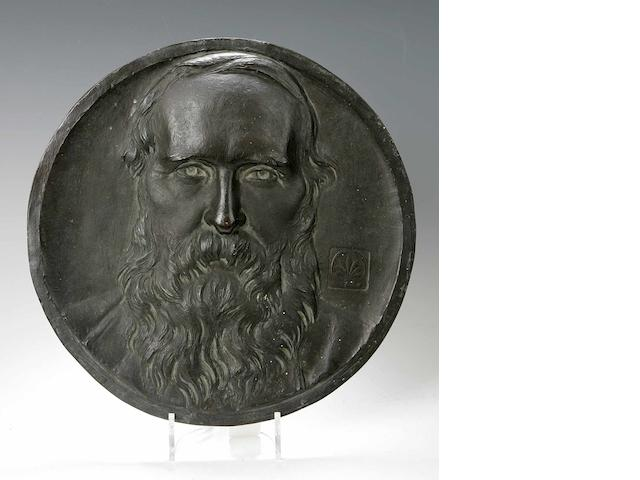 James Pittendrigh MacGillvray RSA LLD 1856-1938 A circular bronze portrait plaque thought of William Brodie RSA