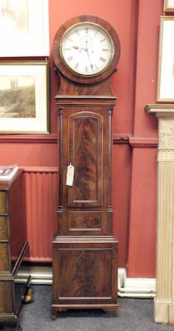 A 19th century mahogany drumhead longcase clock
