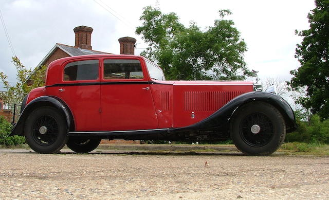 1932 Rolls-Royce 40/50hp Phantom II Continental Sports Saloon  Chassis no. 90MS Engine no. BK45