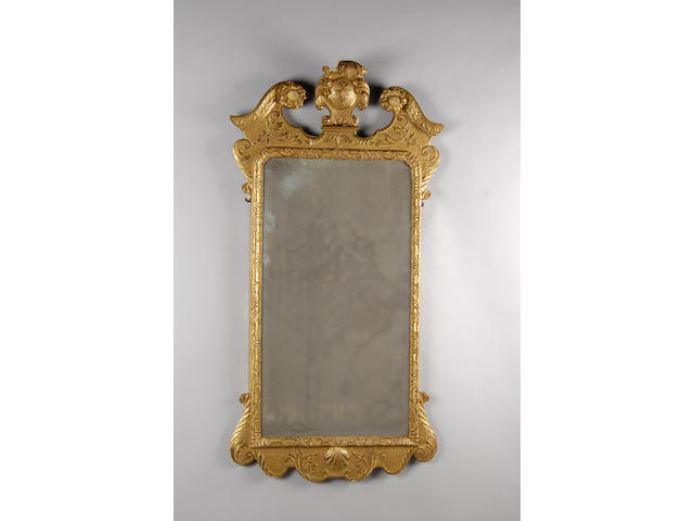 A mid 18th Century carved gilt gesso pier mirror