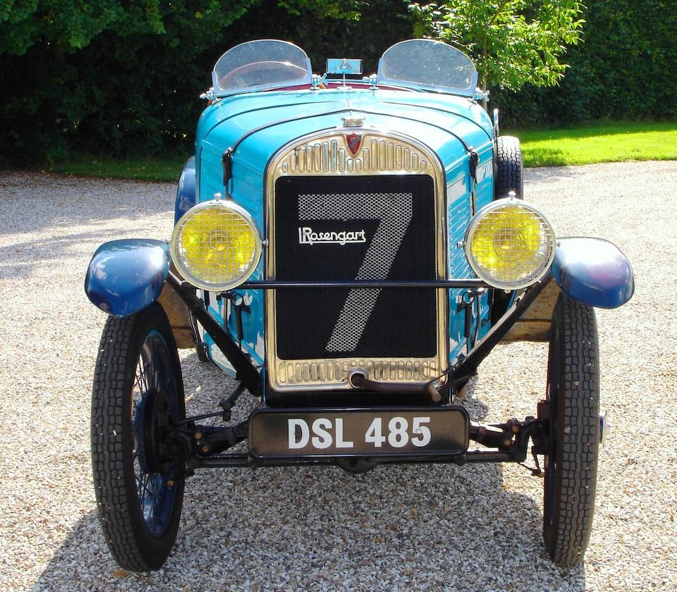 1931 Rosengart Sports Torpedo  Chassis no. 50898 Engine no. 454