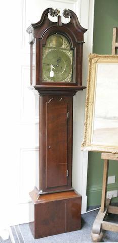 A George III mahogany longcase clock  Jn Barr, Port Glasgow