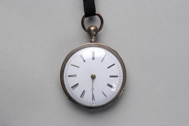 An engine turned pocket watch