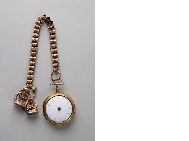 An 18th century gold pair cased pocket watch J & F Jackson, London, No 1907