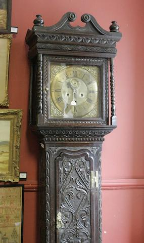 An oak longcase clock, Walter Lumsdain, Cupar, Fife
