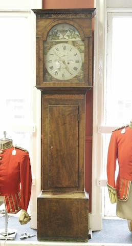 A Regency mahogany and inlaid longcase clock  J.Fowlds Kilmarnock