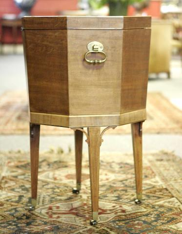 An Edinburgh Regency mahogany and inlaid hexagonal cellaret