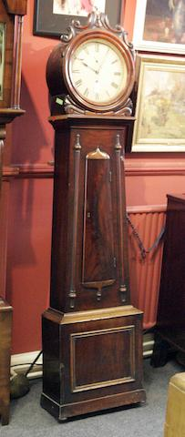A Victorian mahogany longcase clock, indistinctly signed ---ford, Glasgow