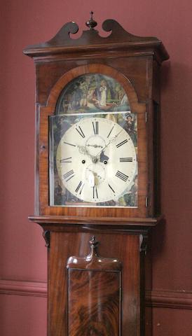 A Victorian mahogany longcase clock