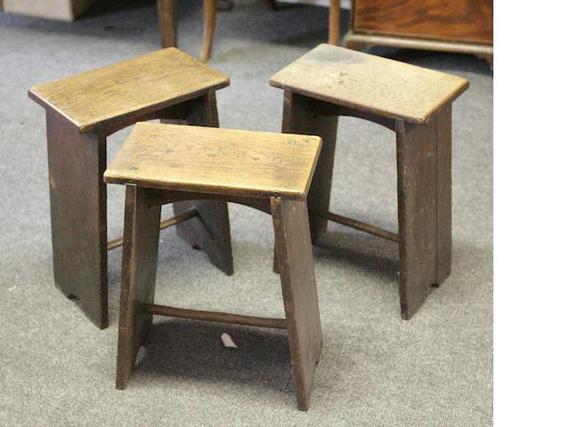 Three similar stools