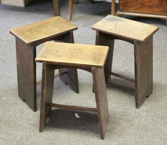 Three similar stools