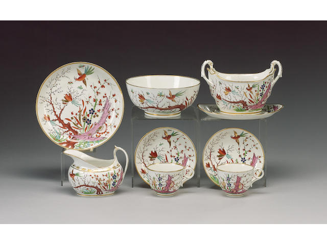 A Barr, Flight Barr 'Japan' pattern part tea service, circa 1805,