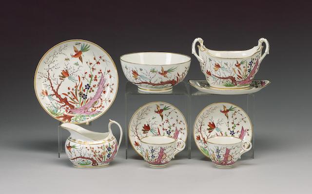 A Barr, Flight Barr 'Japan' pattern part tea service, circa 1805,
