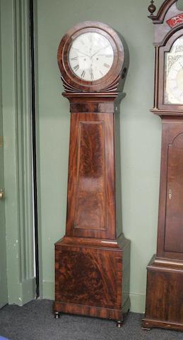 A Victorian mahogany drumhead longcase clock, George McLean, Glasgow
