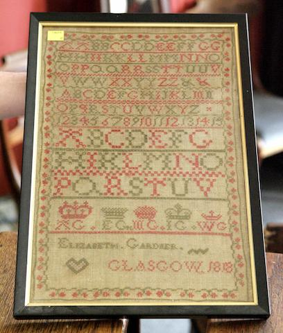 A George III needlework Sampler