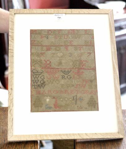 An early 19th century alphabet sampler By Margaret Gray