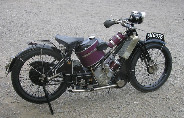 1928 Scott 498cc Super Squirrel  Frame no. 2348 Engine no. Z9457